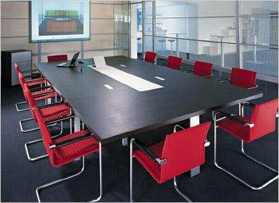 Office Interiors Limited Conference Training - Haworth conference table